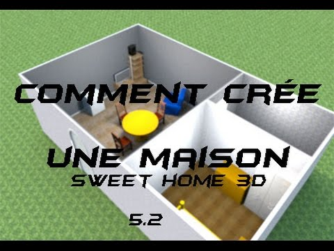 comment cree une maison sur sweet home 3d 5 2 youtube. Black Bedroom Furniture Sets. Home Design Ideas