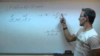 Division de polinomios 3ºESO unicoos matematicas