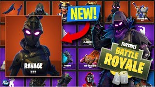 * NUEVO * 'RAVAGE' FEMALE RAVEN SKIN & MORE LEGENDARY SKINS COMING SOON! (FORTNITE : BATTLE ROYALE) Fuga