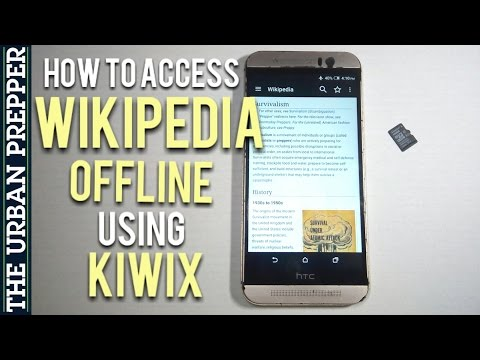 How to Access Wikipedia Offline using Kiwix (Knowledge Prep)