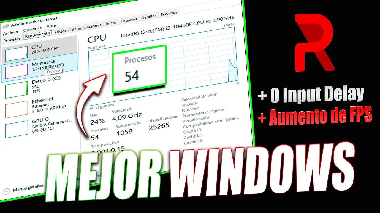 MEJOR WINDOWS OPTIMIZADO PARA JUEGOS | REVIOS | FPS BOOST | Fortnite  Valorant  CSGO  Warzone Apex
