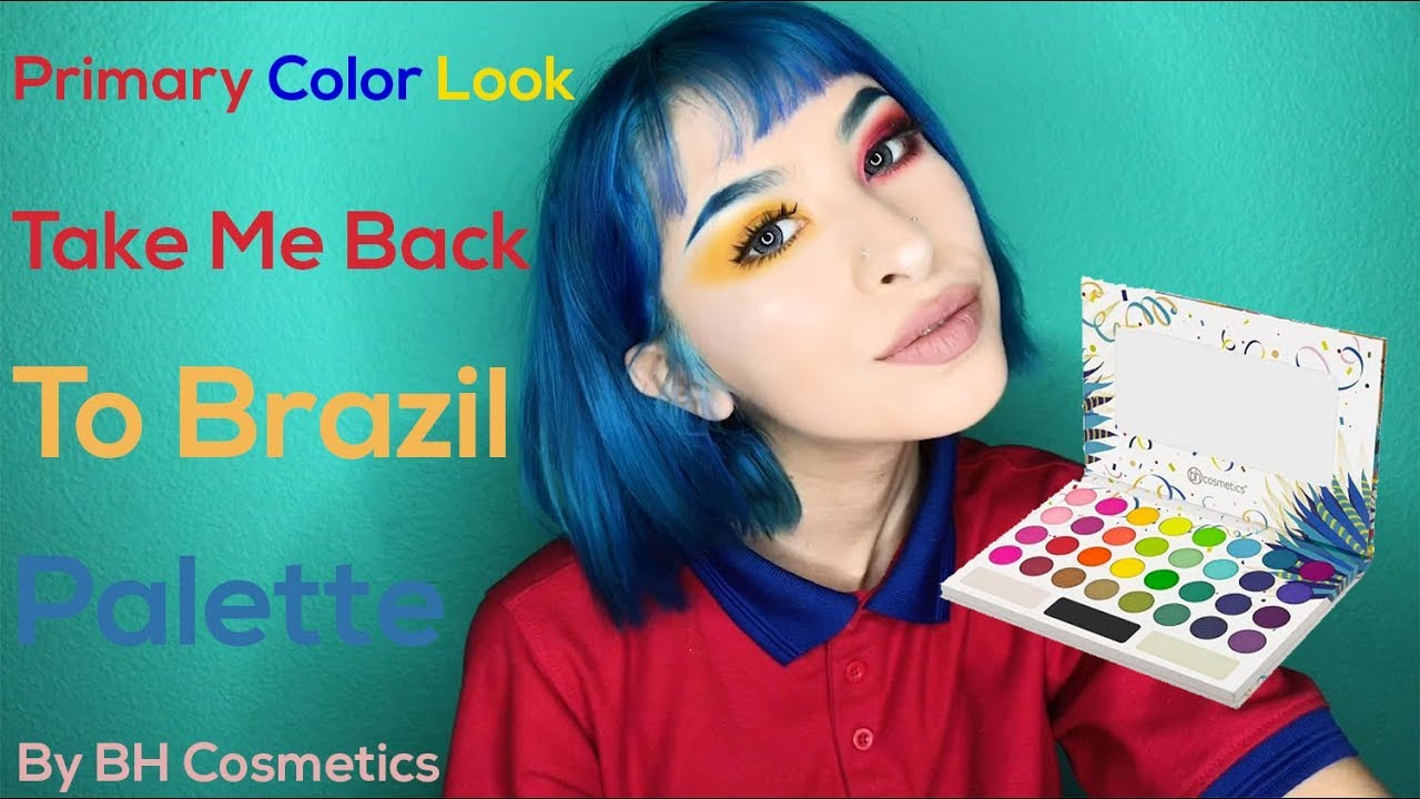 bh cosmetics take me back to brazil palette tutorial primary color makeup tutorial youtube. Black Bedroom Furniture Sets. Home Design Ideas