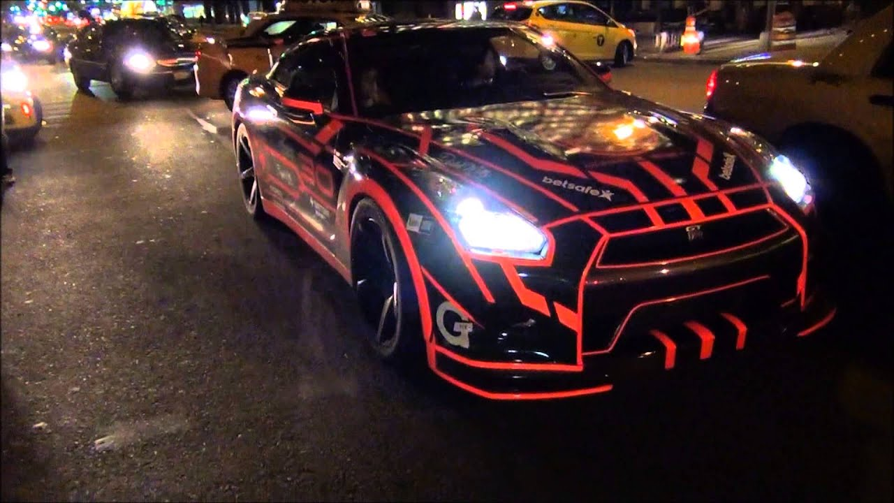 Latest Car Wallpaper 2014 Tron Nissan Gt R Gumball 3000 Nyc Youtube