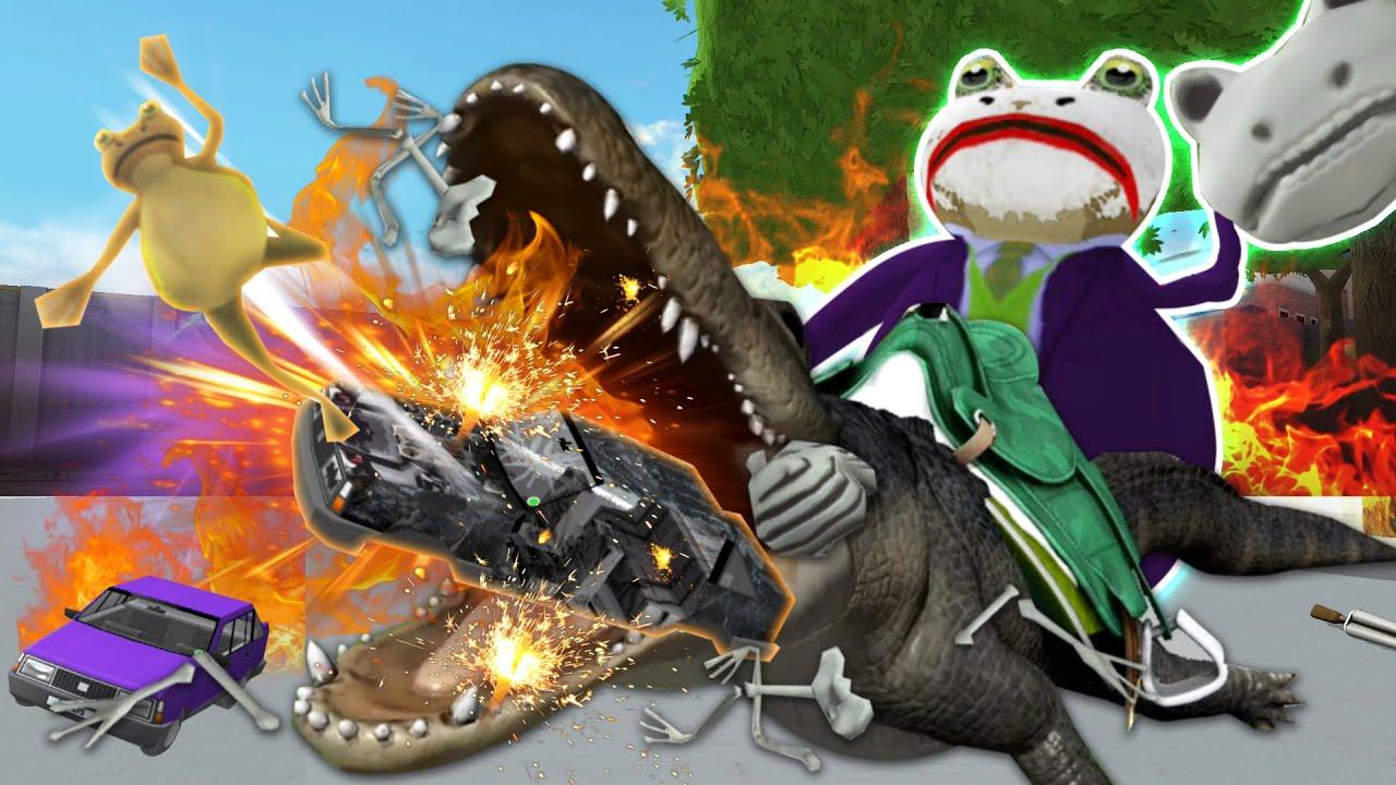 거대악어까지 길들인 조커개구리! 위기의 스윈던... 웬만해선 그를 막을 수 없다! - 어메이징프로그(Amazing frog) - 겜브링(GGAMBRING)