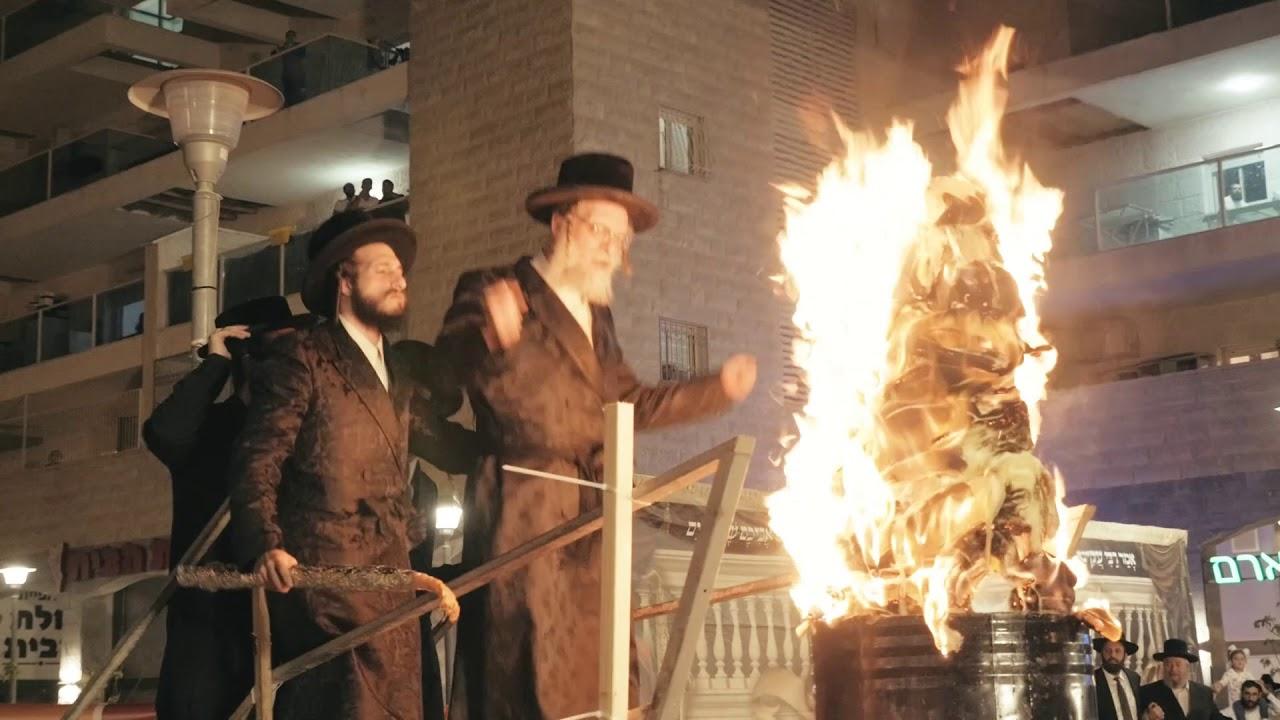 """האדמו""""ר משאץ דרהאביטש ל""""ג בעומר הדלקה - Shotz Rebbe Lag Ba'omer Hadlukah in Beit Shemesh - 2018"""