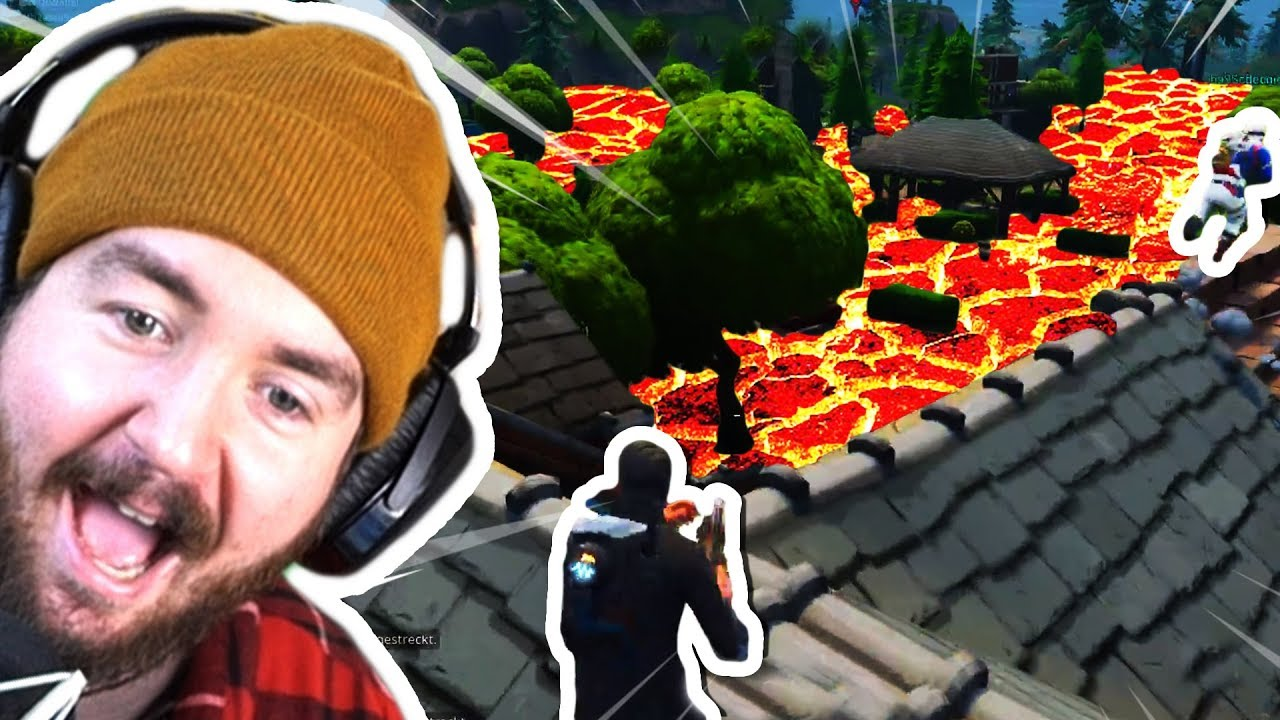 Die fortnite boden ist lava challenge mit stegi youtube for Boden ist lava