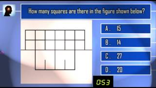 So You Think Youre So Smart--   Season 1 Episode 11 - how many squares in the figure