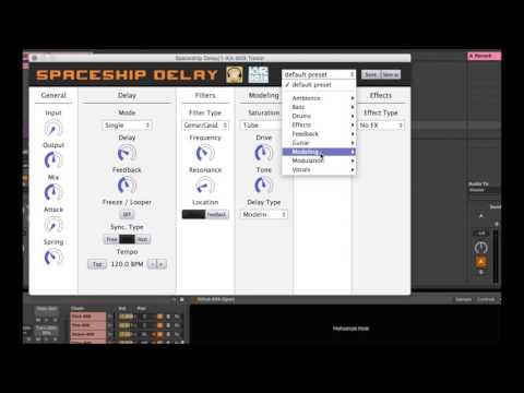 Spaceship Delay - free VST plug-in effect hands-on