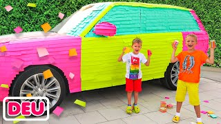 Vlad und Niki farbige Auto für Mama