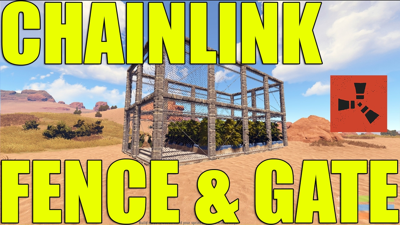 How To Break A Chainlink Fence Gate Efficitently In Rust Youtube