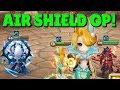 SUMMONERS WAR:  Testing Cichild ( Wind Mermaid ) in Guild Wars! Air Shield + Violent Runes = GG