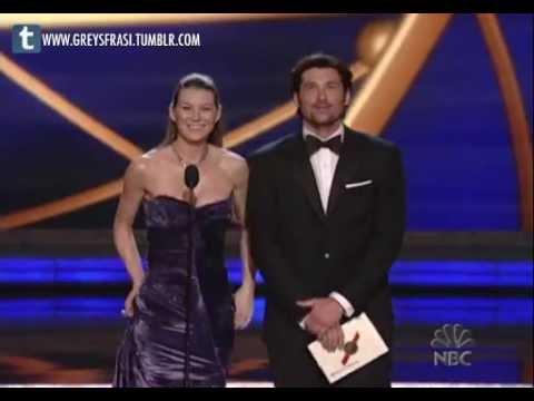 Ellen Pompeo Patrick Dempsey The 58th Emmy Awards