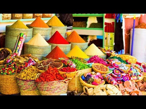 Morocco Travel Vlog: Shopping in Marrakech: Buying Spices Herbal Products Tourism Guide