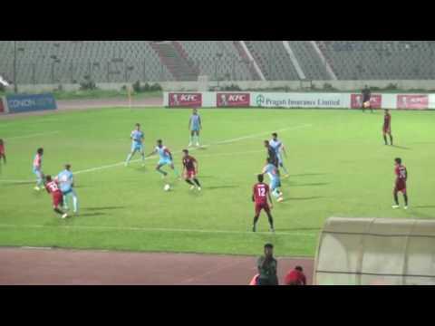 Dhaka Abahani Ltd vs Team BJMC Club KFC Independence Cup 2016.