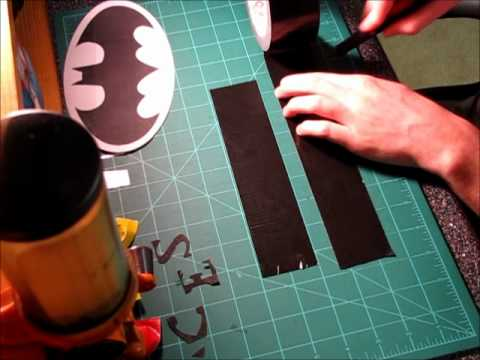 how to make a duck tape batman symbol youtube
