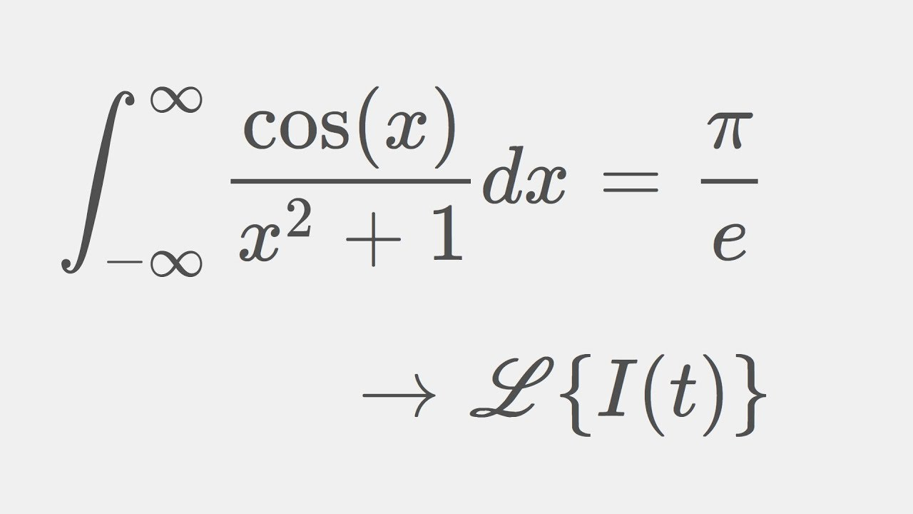 A beautiful result in Calculus: Solution using Laplace