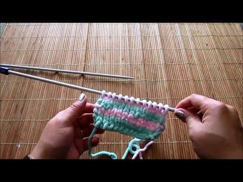 40b5276c9358 Tricoter une écharpe au point de jersey - YouTube