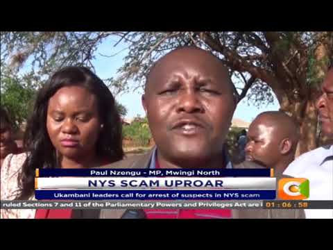Ukambani leaders call for arrest of suspects in NYS scam