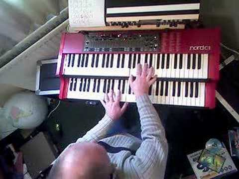 Nord C1 used as a controller for Boesendorfer software piano