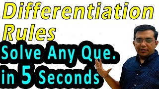Differentiation | Solve Any Que. in 5 Seconds | Class 12 CBSE NCERT Maths in Hindi | Lecture 4