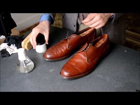 ASMR Allen Edmonds Joplin casual shoes polish and mirrorshin