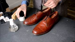 ASMR Allen Edmonds Joplin casual shoes polish and mirrorshine