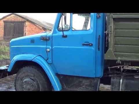 Работа на грузовике ЗИЛ-45065 с двигателем Д-245!Погрузчик ТО-30.