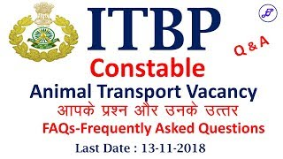 FAQs about ITBP Animal Transport Recruitment 2018 | ITBP Animal Transport | Employments Point