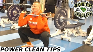 POWER CLEAN TECHNIQUE TIPS ADAM SMOTHERMAN CLEMSON UNIVERSITY TIGERS STRENGTH DEMO