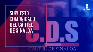 Cártel de Sinaloa pudo lanzar comunicado por balacera en Culiacán | Noticias con Ciro Gómez Leyva