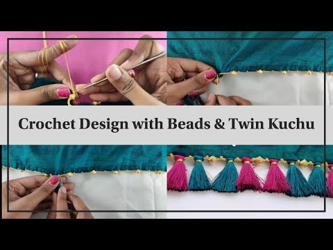 Download How To Make Crochet / Krosha Saree Kuchu With Beads | Krosha Kuchu Making Tutorial For Beginners