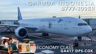 Gambar cover Garuda Indonesia B777-300ER Economy GA417 Bali ke Jakarta | Rp.1,6 Jutaan Sekali Terbang