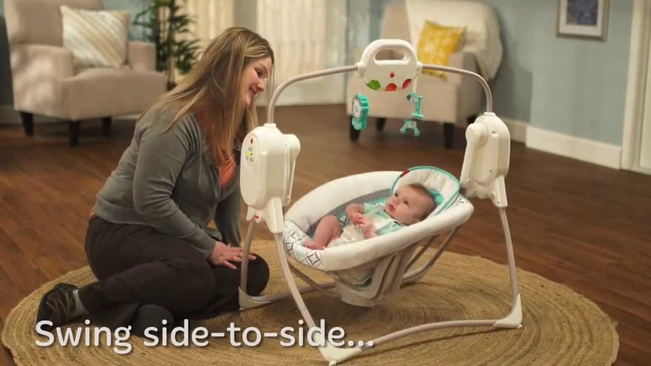 Twinkling Lights Spacesaver Cradle N Swing Demo Fisher Price