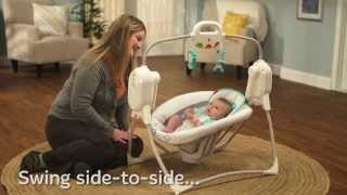 Twinkling Lights Spacesaver Cradle N Swing - Demo - Fisher Price
