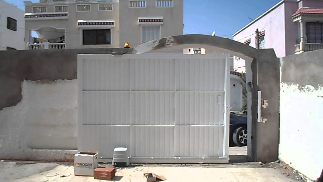 Porte Coulissant Motorisé YouTube - Porte de garage coulissante electrique
