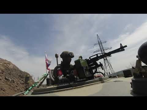 Патрулирование Лачинского коридора российскими миротворцами в Нагорном Карабахе