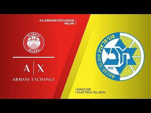 AX Armani Exchange Milan - Maccabi Playtika Tel Aviv Highlights | EuroLeague, RS Round 25