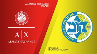 AX Armani Exchange Milan - Maccabi Playtika Tel Aviv Highlights | EuroLeague, RS Round 25