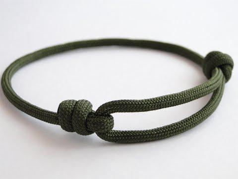 How to Make a Simple Single Strand Friendship (Version 2-Improved Sliding Knot) Bracelet