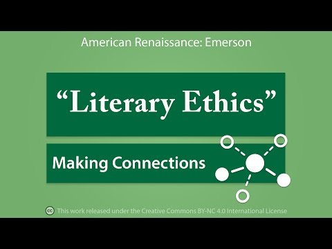 Making Connections: Literary Ethics