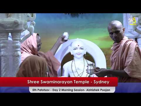 Sydney Temple 5th Patotsav - Shreemad Satsangi Jeevan - Day 2 Abhishek