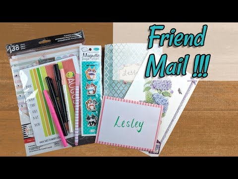 Friend Mail from Laura and Angie!