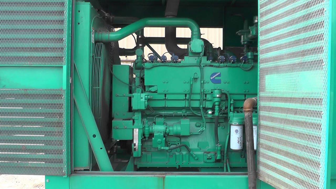 Cummins 325 kW Natural Gas Generator Used Standby GTA19 Unit