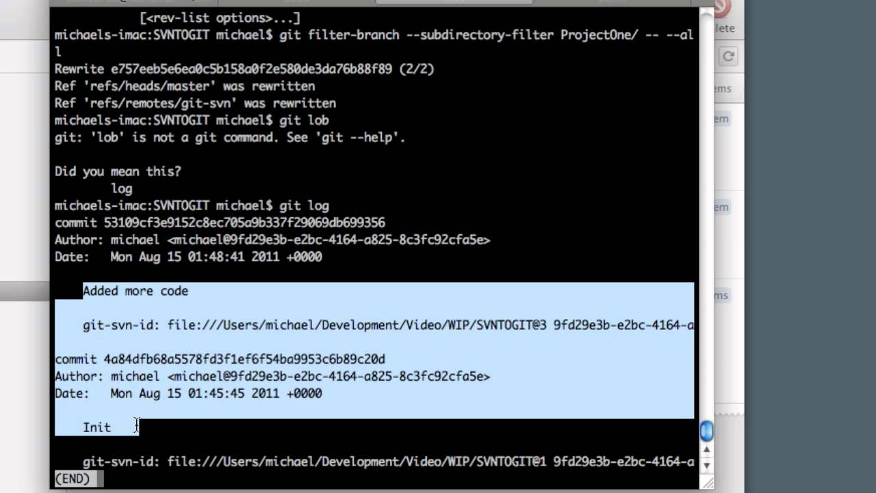 Convert SVN to GIT and Extract Individual Projects