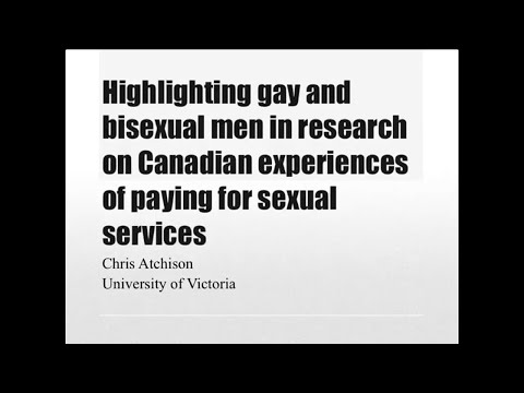 Highlighting Gay and Bisexual Men in Research on Canadian Experiences of Paying for Sexual Services