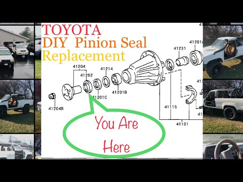 Toyota Pinion Seal Replacement