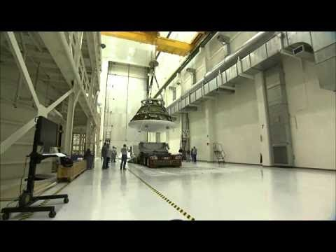 NASA's Orion Ground Test Vehicle Arrival