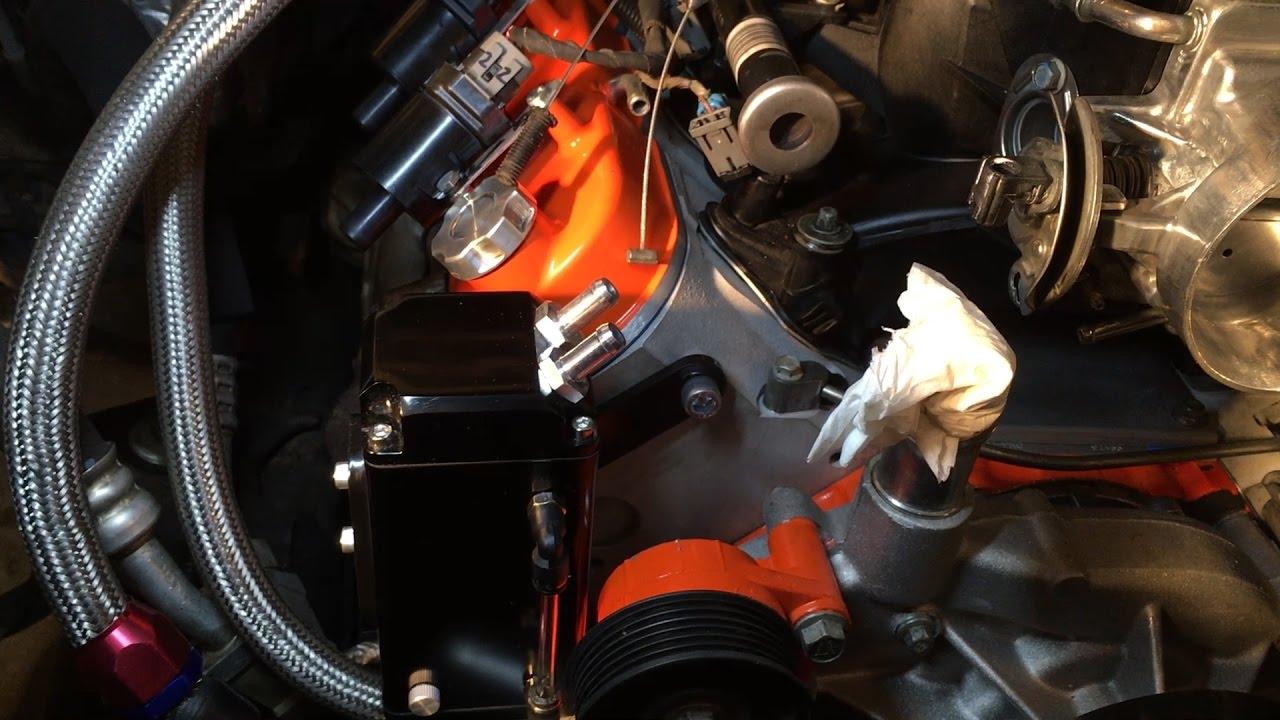 Oil Catch Can System Installation Inline Pcv Rebuild Vid 11 Gm Wiring Diagram 94 Chevy 350 Engine Tbi Vortec Ls Truck Youtube