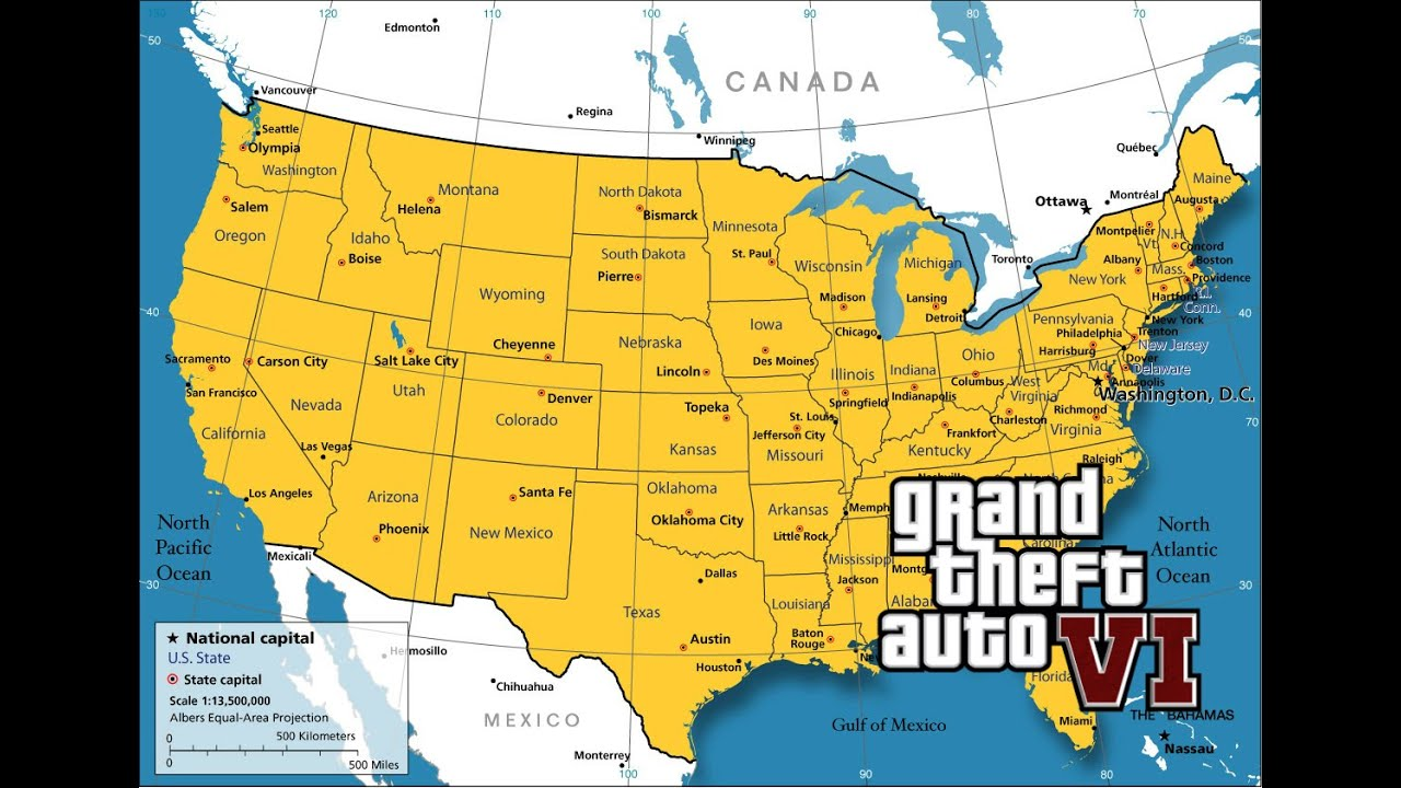 GTA 6 WILL HAVE THE ENTIRE US MAP?!(GTA V PS4) - YouTube