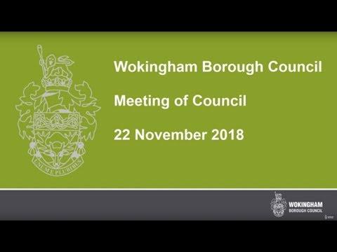 Wokingham Borough Council Meeting - 22 November 2018
